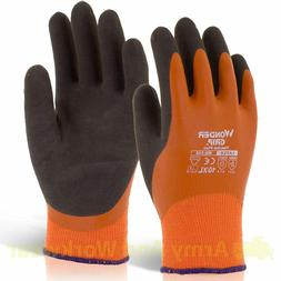 12 x WONDER GRIP THERMO PLUS Work Gloves Double Coated Latex
