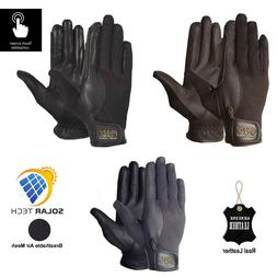AK Summer Horse Riding Gloves in Soft Leather with Breathabl