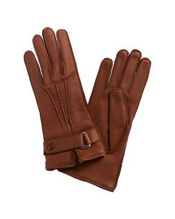 Portolano Belted Cashmere-Lined Leather Gloves Women's