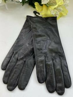 Fownes Black Leather Womens Gloves Size XL New