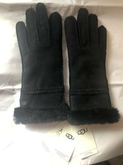UGG Australia Black Shearling Sheepskin Women's Gloves SZ L