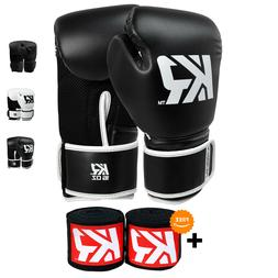 KRBON Boxing Gloves for Women and Men with Free Hand Wraps -