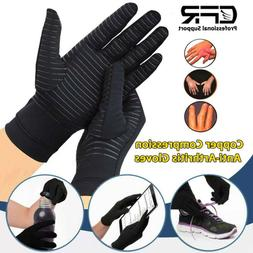 Copper Infused Arthritis Gloves Compression Support Hands Pa
