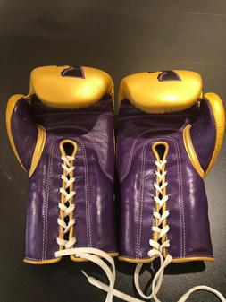 Cowhide Leather Lace Up Boxing Gloves for Men and Women