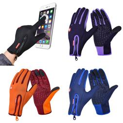 Cycling Gloves Women Men Anti Slip Thermal Touch Screen Warm