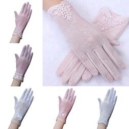 Driving Gloves Women Summer Anti UV Sun Protection Lace Touc