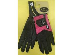 Tuscany Equestrian Summer Riding Gloves Pink Butterfly Women