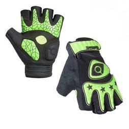 Fingerless Cycling Bicycle Gloves Half Finger Less Gel Palm