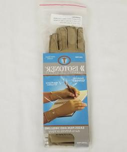 ISOTONER Fingerless Therapeutic Gloves - A25830 LARGE CAMEL