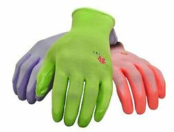 G & F 15226 Women's Garden Gloves 6 Pair Pack assorted color