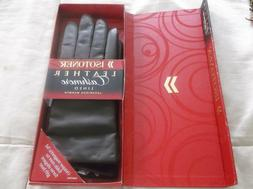 ISOTONER GENUINE LEATHER Women's Driving Gloves Cashmere Lin