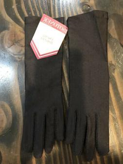 Isotoner Gloves Black True Vintage NEW With Tags Solid Unlin