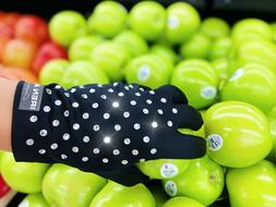 Grocery Gloves, Bling Black Gloves with Rhinestones, Fancy W