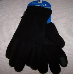 Columbia Heating Up II Fleece Gloves BLACK Men's XL ~ NWT $2