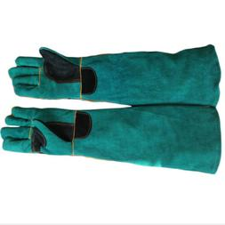 Heavy Duty Gauntlet Thorn Proof Leather Gardening Gloves for