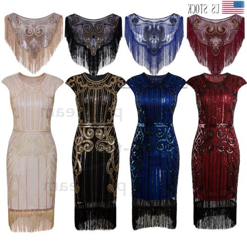 1920s flapper dress gatsby party formal prom