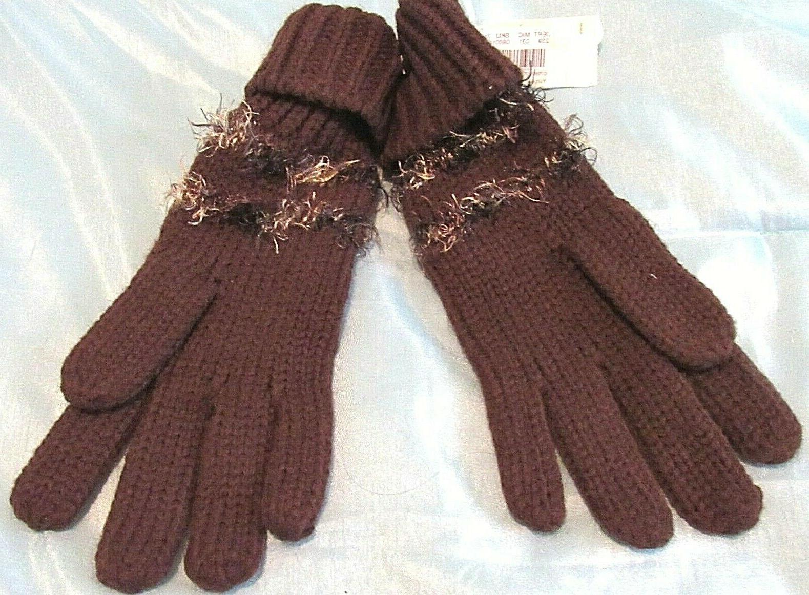 collection eighteen women s brown gloves large