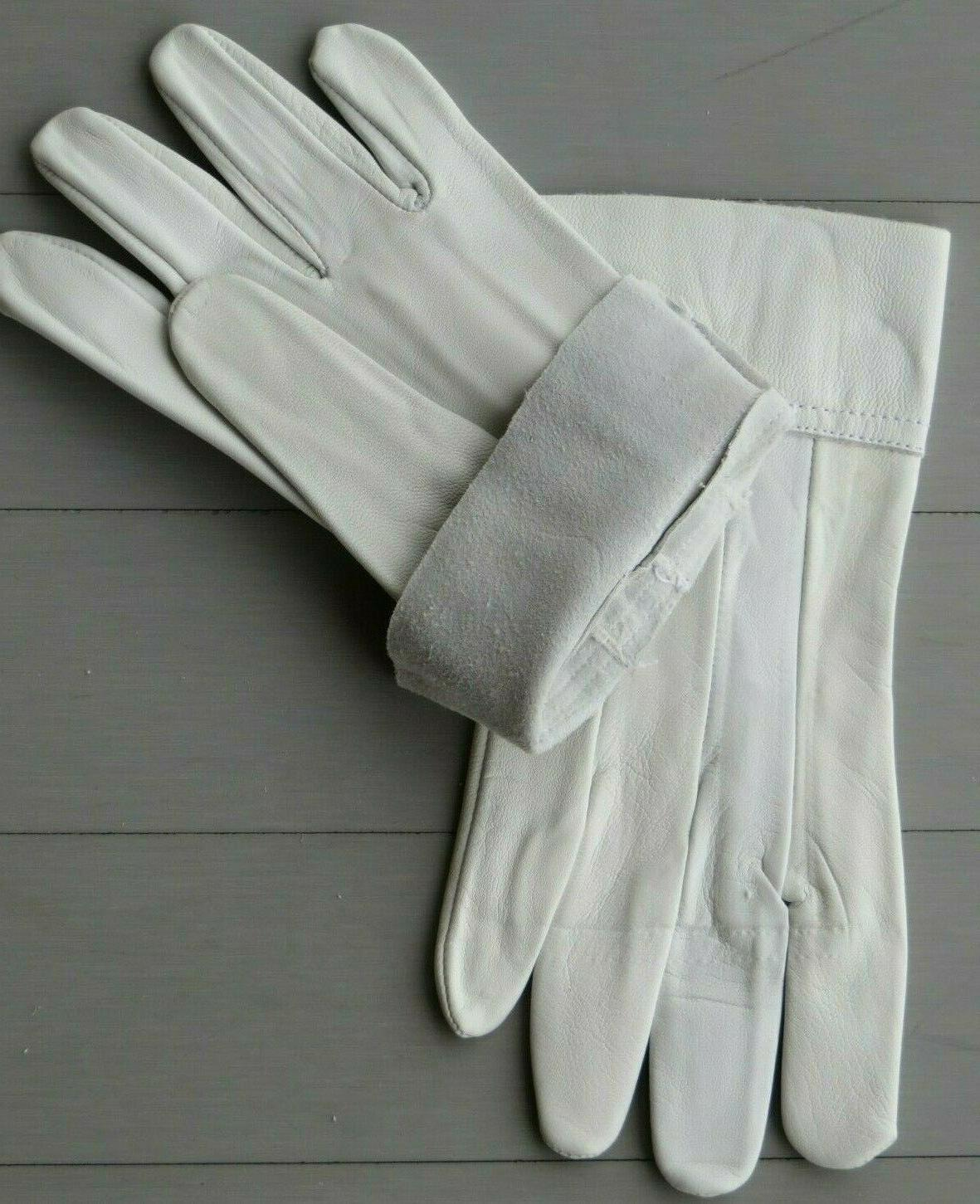 white leather gloves driving golf riding garden