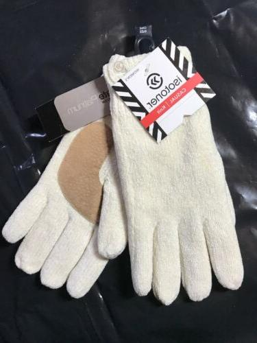 women classic knit thinsulate lining gloves ivory
