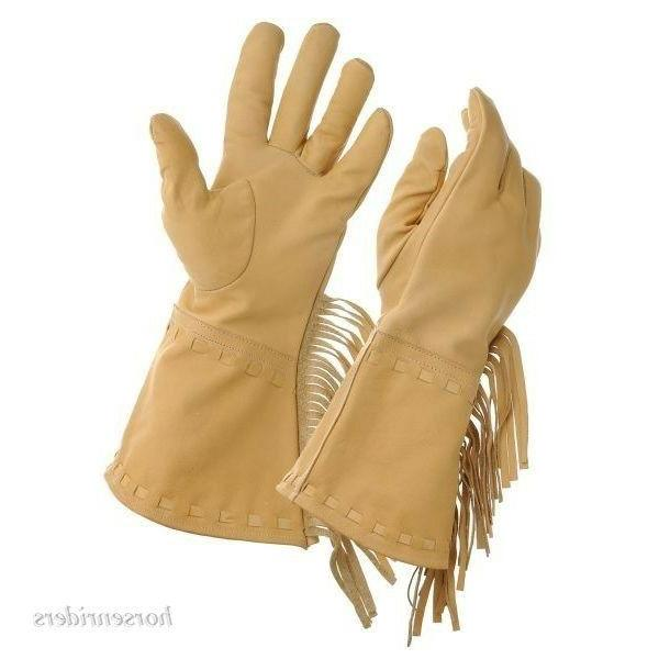 women s leather fringed frontier gloves soft