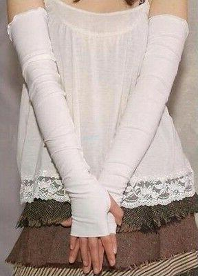 Women Stretchy Fingerless Cashmere Arm Sleeves