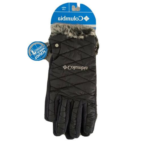 womens heavenly gloves in black size large