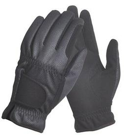 Ladies Black Light Weight Summer Gloves - Breathable Water &