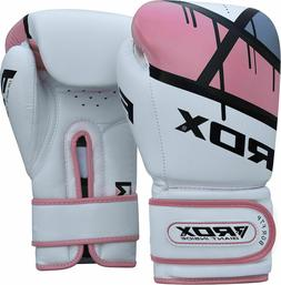 RDX Ladies Leather Boxing Gloves Bag MMA Womens Inner Hand W