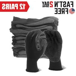 EvridWear Latex Rubber Hand Coated Safety Work Gloves for Me