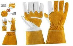 Leather Gardening Gloves for Women and Men - Breathable Rose