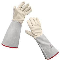 Leather ROSE GARDENING Gauntlet Gloves Thorn proof Size Smal