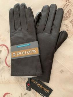 ISOTONER LEATHER THINSULATE LINED WOMENS GLOVES