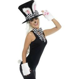 Mad Hatter Tea Party Kit Hat Ears Bow Tie Gloves Tail Adults
