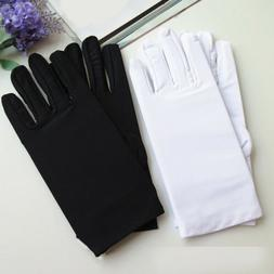 New 1Pair Black White Etiquette Thin Stretch Spandex Sun Pro