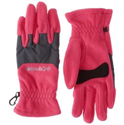 NEW COLUMBIA THERMAL COIL FLEECE GLOVES PUNCH PINK WOMENS SI