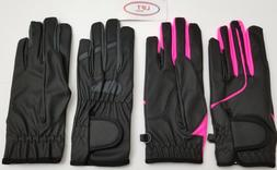 new women kids horse riding gloves leather