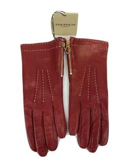 new women s red genuine leather side
