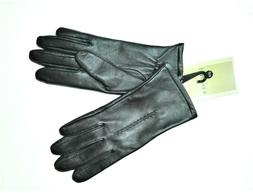 NWT Fownes Brothers Women's Leather Gloves Black Size 6 1/2