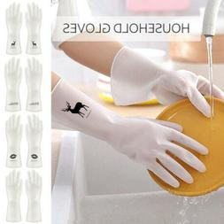 Printed Silicone Rubber Dish Washing Up Gloves Laundry Glove