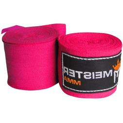 """Meister Adult 180"""" Semi-Elastic Hand Wraps for MMA & Boxing"""