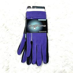 Smart Touch Isotoner Purple Touchscreen Compatible Gloves Wo