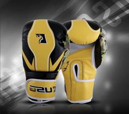synthetic  Leather Lace Up Boxing Gloves for Men and Women