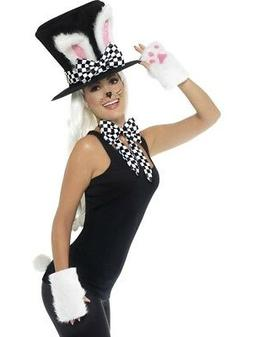 Tea Party Top Hat Rabbit Ears Gloves Bow Tie & Tail Ladies W