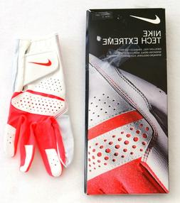 tech extreme white and pink golf glove