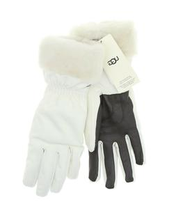 UGG White Shearling Cuff Fur Lined Tech Gloves Women's Size