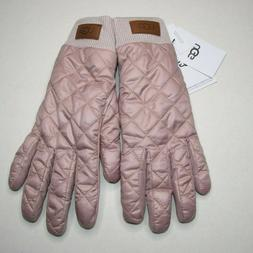 UGG WOMEN'S QUILTED ALL WEATHER GLOVES PINK CRYSTAL L/XL S