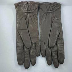Vintage Fownes Leather Driving Gloves Womens M brown cosplay