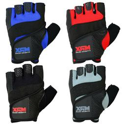 Weight Lifting Gloves Gym Fitness Bodybuilding Workout Leath