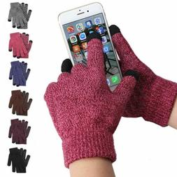 Winter Knit Gloves Touchscreen Warm Thermal Men Women Windpr