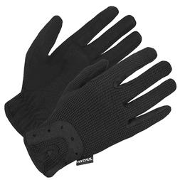 Women Equistrian Grip Horse Riding Gloves Running Leather Dr
